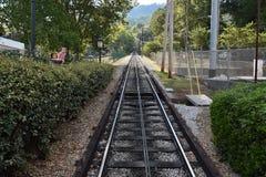 La ferrovia della pendenza della montagna dell'allerta a Chattanooga, Tennessee Immagine Stock