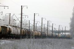 La ferrovia delle rotaie barrels le piste dei treni Fotografia Stock