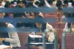 La ferrovia dello stato della Tailandia nomina gli esami Immagine Stock