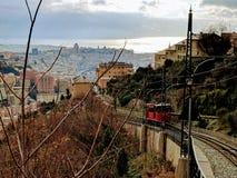 La ferrovia di cavo di Genova immagine stock libera da diritti