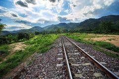 La ferrovia per la materia prima di trasporto a Lamphun Fotografia Stock Libera da Diritti