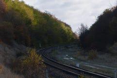 La ferrovia in Polonia Immagine Stock