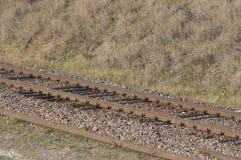 La ferrovia in Polonia Immagini Stock