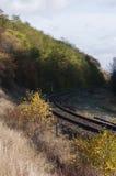 La ferrovia in Polonia Immagini Stock Libere da Diritti