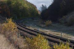 La ferrovia in Polonia Fotografia Stock Libera da Diritti