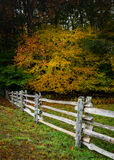 La ferrovia spaccata recinta l'autunno Fotografia Stock