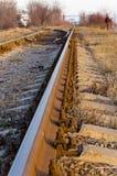 La ferrovia strade trasversali Fotografia Stock