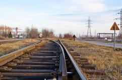 La ferrovia strade trasversali Immagine Stock Libera da Diritti