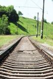 la ferrovia vicino alla natura Immagine Stock Libera da Diritti