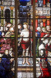 La Ferte-Bernard, stained glass Stock Photography