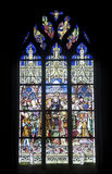 La Ferte-Bernard, stained glass Royalty Free Stock Photos