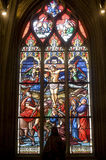La Ferte-Bernard, stained glass Royalty Free Stock Image