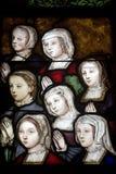 La Ferte-Bernard, stained glass Stock Image