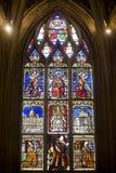La Ferte-Bernard, stained glass Stock Photography