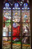 La Ferte-Bernard, stained glass Stock Photo