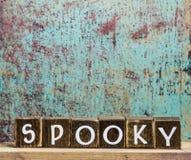 La festa blocca spettrale di legno Fotografia Stock