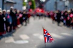 La festa dell'indipendenza norvegese 17 può festa della celebrazione della bandiera del norsk del norge della Norvegia immagine stock