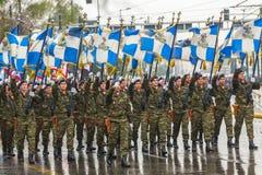 La festa dell'indipendenza o il giorno della rinascita nazionale Grecia è una festa nazionale annuale Fotografie Stock