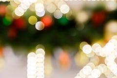 La festa delle luci di Natale boken il fondo Immagine Stock