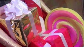La festa di Natale presenta la decorazione creativa Fotografia Stock