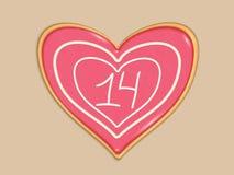 La festa ha stilizzato il cuore fatto dei dolci fotografie stock libere da diritti