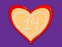 La festa ha stilizzato il cuore fatto dei dolci immagini stock libere da diritti