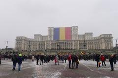 La festa nazionale della Romania Fotografie Stock
