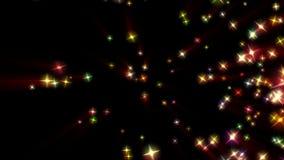 La festa stars il fondo, metraggio di riserva illustrazione vettoriale