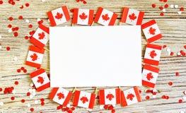 La festividad nacional del 1 de julio - d?a feliz de Canad?, d?a de dominio, el concepto de patriotismo, independencia y memoria, fotografía de archivo