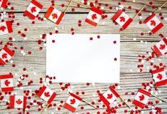 La festividad nacional del 1 de julio - d?a feliz de Canad?, d?a de dominio, el concepto de patriotismo, independencia y memoria, fotografía de archivo libre de regalías