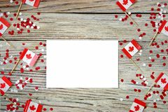 La festividad nacional del 1 de julio - d?a feliz de Canad?, d?a de dominio, el concepto de patriotismo, independencia y memoria, imagen de archivo