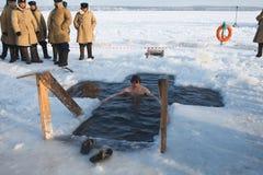 La festività di Theophany in Russia Fotografie Stock Libere da Diritti