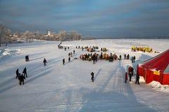 La festività di Theophany in Russia Fotografie Stock