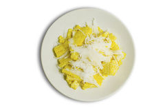 La fetta del cereale Delizioso dolce tailandese immagine stock