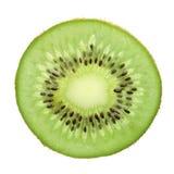 La fetta Kiwi Fruit ha isolato Fotografia Stock Libera da Diritti