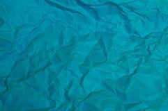 La feuille bleue a chiffonné les textures de papier pour le fond photos stock