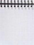 la feuille de cahier a ajusté le blanc Photos libres de droits
