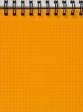 la feuille de cahier a ajusté le jaune Photos libres de droits