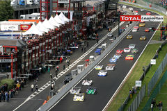 La FIA SPORTSCAR (chemin de Spa1000km) Photo libre de droits