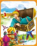 La fiaba - bello stile di manga - illustrazione per i bambini Immagine Stock
