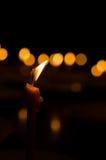 La fiamma dalla candela Fotografia Stock