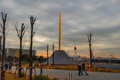 La fiamma della statua di libertà fotografie stock