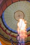 La fiamma di una mongolfiera Fotografia Stock