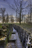 La Fiandre sistema le trincee Fotografia Stock