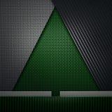 La fibra nera verde del carbonio ha strutturato la progettazione materiale di forma dell'abete royalty illustrazione gratis