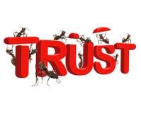 La fiducia della costruzione è sicura nell'onestà di qualità Immagini Stock Libere da Diritti