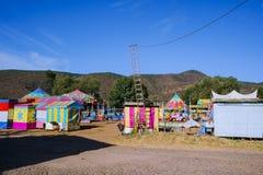 La fiera è pronta a accogliere favorevolmente la gente nella città magica di Mascota Jalisco fotografie stock