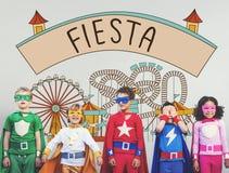La fiesta célèbrent le concept de bonheur de fiesta d'événement de plaisir Photos stock