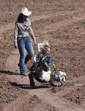 A La Fiesta De Los Vaqueros Junior Rodeo Royalty Free Stock Photography