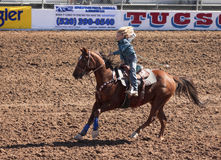 A La Fiesta De Los Vaqueros Junior Rodeo Stock Photo